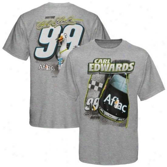 Carl Edwards T Shirt : #99 Carl Edeardx Juvenility Ash Aflac Duck T Shirt