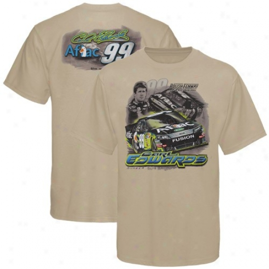 Carl Edwards Tees : #99 Carl Edwards Khaki Drafy Tees