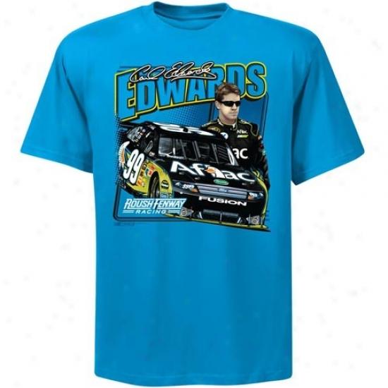 Carl Edwards Tshirt : #99 Carl Edwards Blue Front Straightaway Tshrit