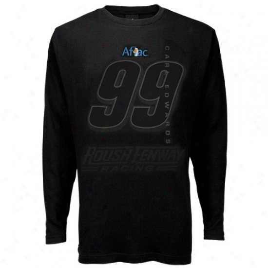Carl Edwards Tshirts : #99 Carl Edwards Black Thermal Long Sleeve Tshirtq