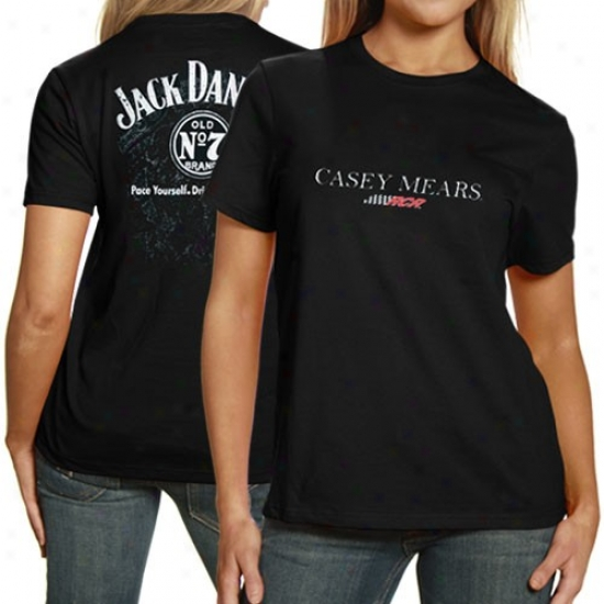 Casey Mears Apparel: #7 Casey Mears Ladies Black Burn T-shirt