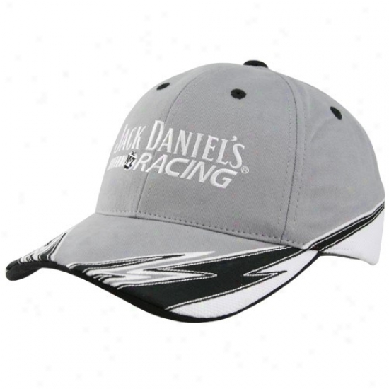 Casey Mears Caps : Casey Mears Gray Jack Daniels Racing Performance Caps