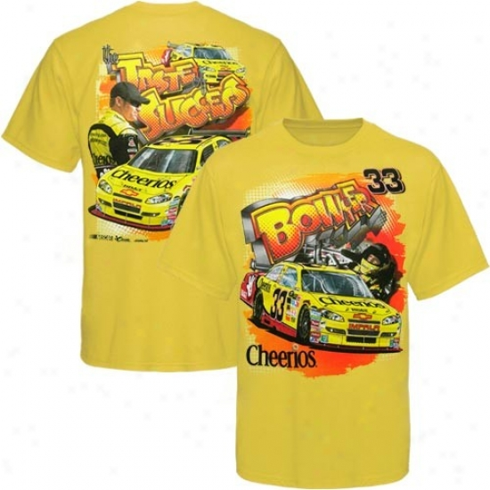 Clint Bowyer Attire: #33 Clint Bowyer Youth Gold Taste Success T-shirt