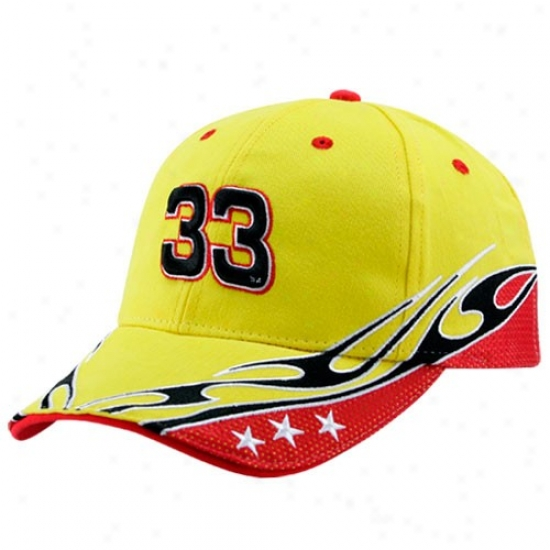 Clint Bowyed Hat : #33 Clint Bowyer Gold Element Adjustable Hat