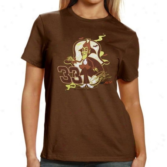 Clint Bowyer Shirt : #33 Clint Bowyer Ladies Brown Sponsor Shirt