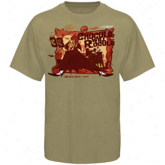Clint Bowyer Tees : #33 Clint Bowyer Youth Khaki Count Chocula Tees