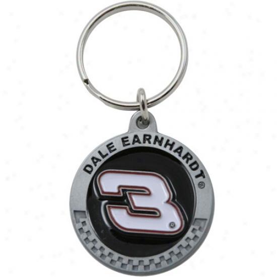Dale Earnhardt #3 Pewter Keychain