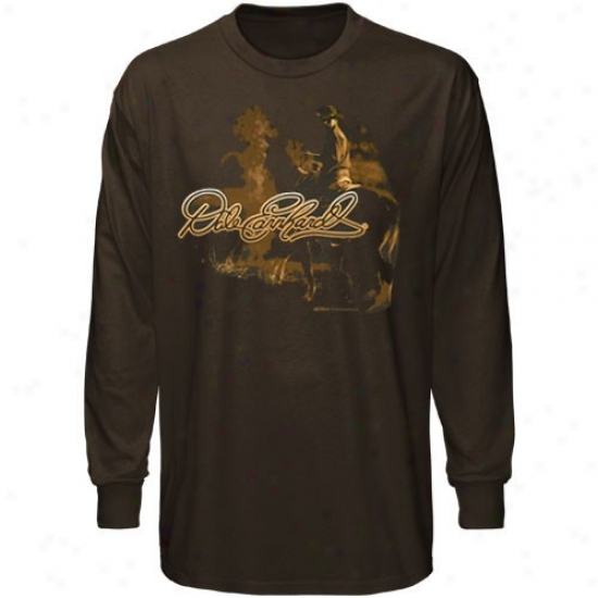 Dale Earnhardt Apparel: #3 Dale Earnhardt Brosn Ride Long Sleeve T-shirt