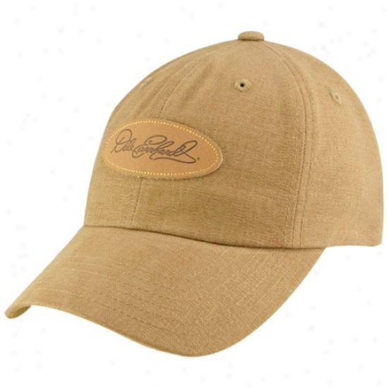 Dalw Earnhardt Caps : # Dale Earnhardt Tan Signature dAjustable Caps