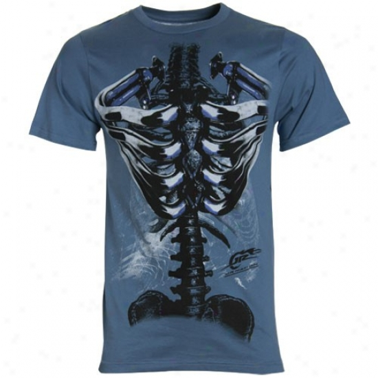 Vale Earnhardt Jr. Apparel: #88 Dale Earnhardt Jr. Blue Jr. Nation Ribcage T-shirt