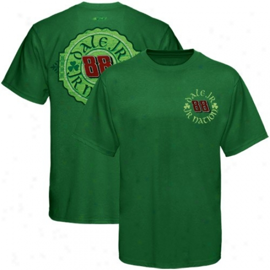 Dale Earnhardt Jr. Apparel: #88 Dale Earnhardt Jr. Klely Green Tried And True T-shirt