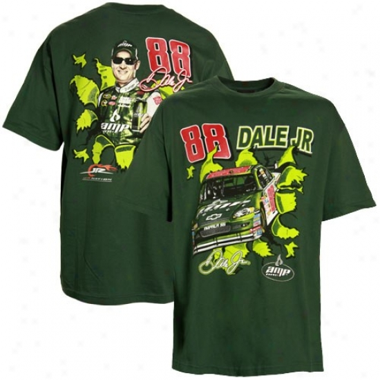 Dale Earnhardt Jr. Apparel: Dale Earnhardt Jr. Green Breakout Performance T-shirt