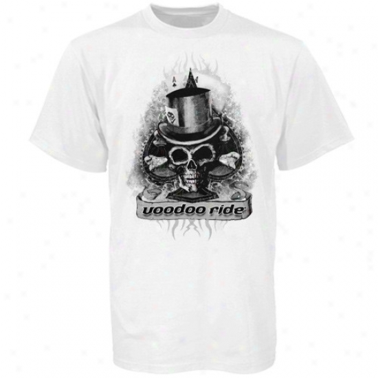 Dale Earnhardt Jr. Apparel: Dale Earnhardt Jr. White Voodoo Ride T-shirt