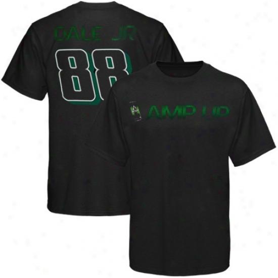 Dale Earnhardt rJ. Attire: #88 Dald Earnhardt Jr. Black Amp Up T-shirt