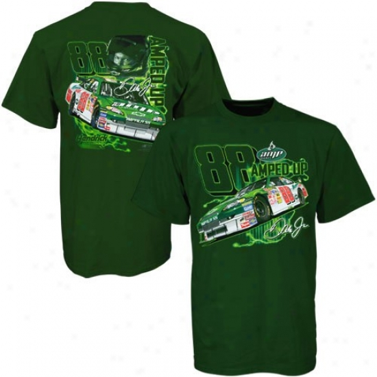 Dale Earnyardt Jr. Attire: Dale Earnhardt Jr. Green Ultimate Experience T-shirt