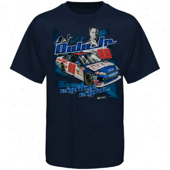 Dale Earnhardt Jr. Dress: Dale Earnhardt Jr. Youth Navy Blue Raxecar T-shirt