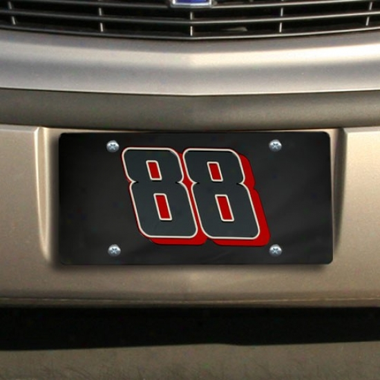 Dae Earnhardt Jr. Black Mirrored License Plate