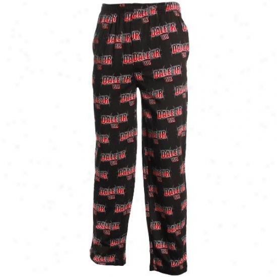Dale Earnhardt Jr. Black Roller Print Pajama Pants