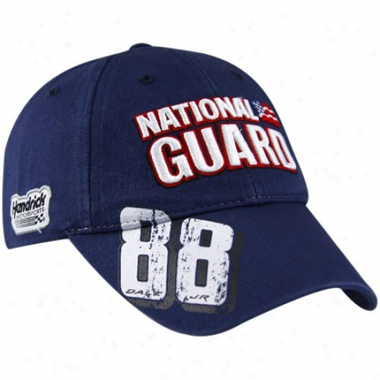 Dale Earnhardt Jr. Head-cover : #88 Vale Earnhardt Jr. Navy Blue Distressef Number Adjustable Cap
