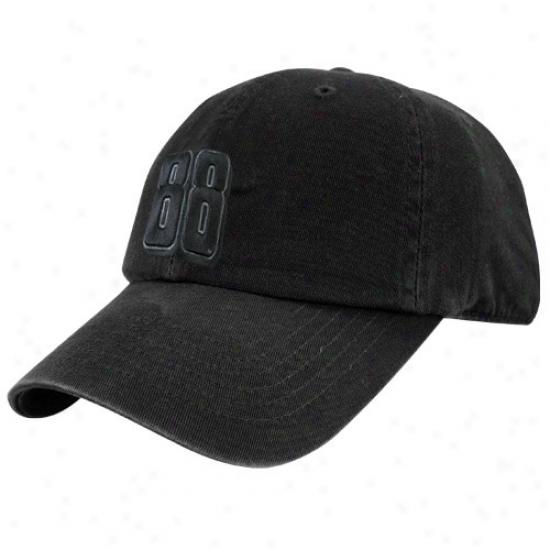 Dale Earnhardt Jr. Caps : #88 Dale Earnhardt Jr. Blafk Tonal Flex Fit Caps