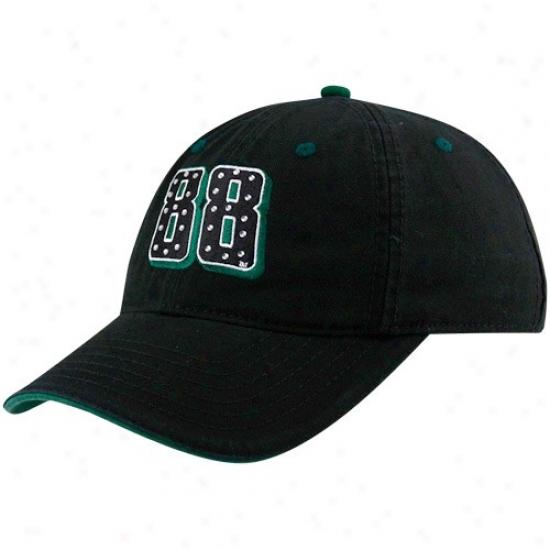 Vale Earnhardt Jr. Caps : #88 Dale Earnhardt Jr. Ladies Black Rhinestone Adjustable Caps