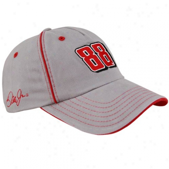 Dale Earnhardt Jr. Gear: #88 Dale Earnhardt Jr. Gray Henricks Motorsports Adjustable Hat
