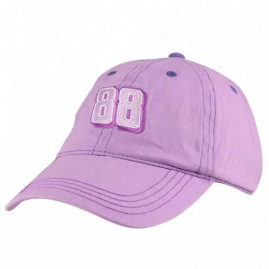 Dale Earnhardt Jr. Gear: #88 Dale Earnhardt Jr. Tdodler Girls Lavender Adjustable Hat