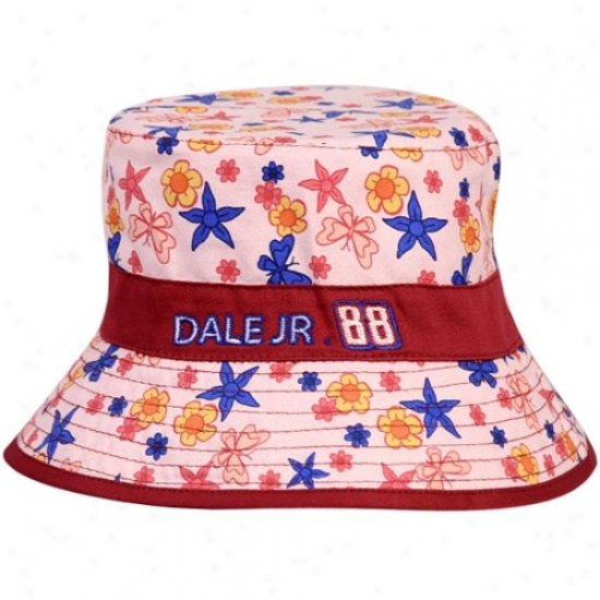 Dale Earnhardt Jr. Gear: #88 Dale Earnhardt Jr. Toddler Girls Pink Bucket Hat