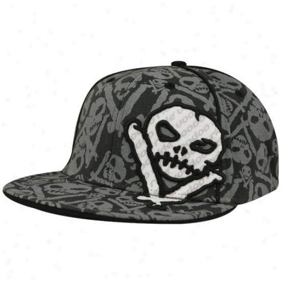 Vale Earnhardt Jr. Gear: Voodoo Ride Black Skulls Flex Fit Hat