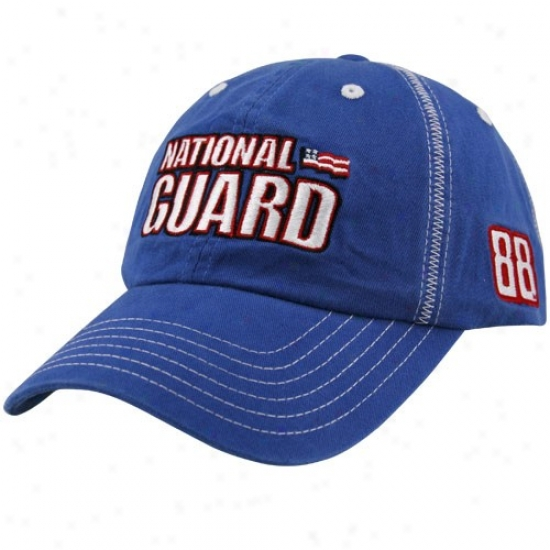 Dale Earnhardt Jr. Hat : #88 Dale Earnhardt Jr. Imperial Blue National Guard Contrast Stitch Adjustable Hat