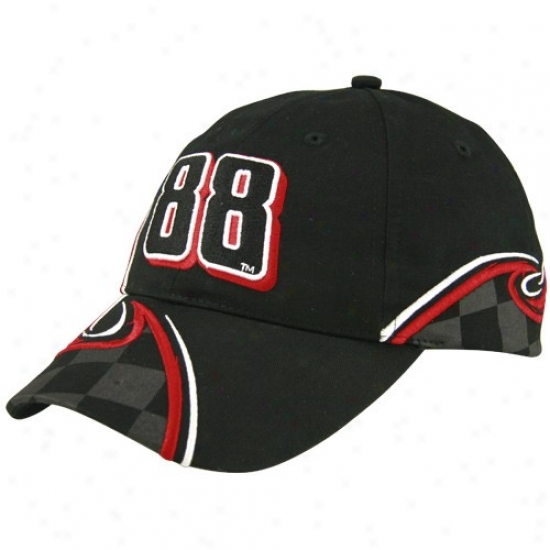 Dale Eanrhardt Jr. Hate : #88 Dale Earnhardt Jr. Black Curve Adjustable Hats