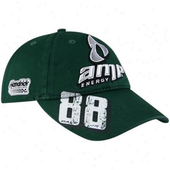 Dale Earnhardt Jr. Hast : #88 Dale Ernhardt Jr. Gteen Distressed Number Adjustable Hats