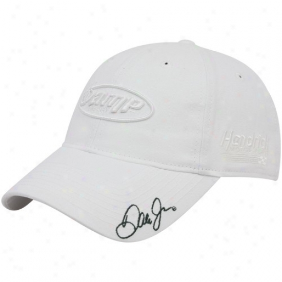 Dale Earnhardt Jr. Hats : #88 Dale Earnhardt Jr. White Tonal Spondor Adjustable Slouch Hats