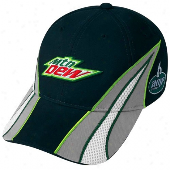 Dale Earnhardt Jr. Hats : Dale Earnhardt Jr. Black Driver Pit Adjustable Hats