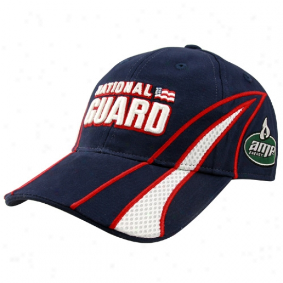 Dale Earnhardt Jr. Hats : Dale Earnhardt Jr. Navy Blue Driver Pit Adjustable Hats