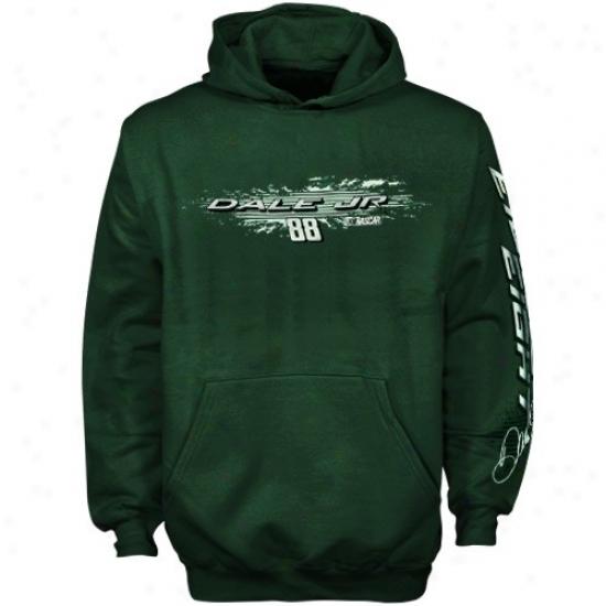 Dale Earnhardt Jr. Hoodie : Dale Earnhardt Jr. Youth Green Speed Warrior Hoodie