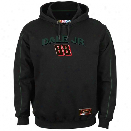Dale Earnhardt Jr. Hoodies : #88 Dale Earnhardt Jr. Black Gear Eager demand Hoodies