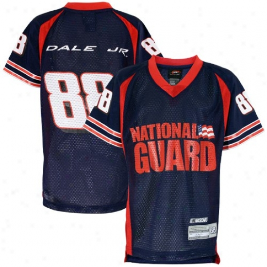 Dale Earnhardt Jr. Jerseys : #88 Dale Earnhardt Jr. Youth Navy Blue Replica Mesh Football Jerseys