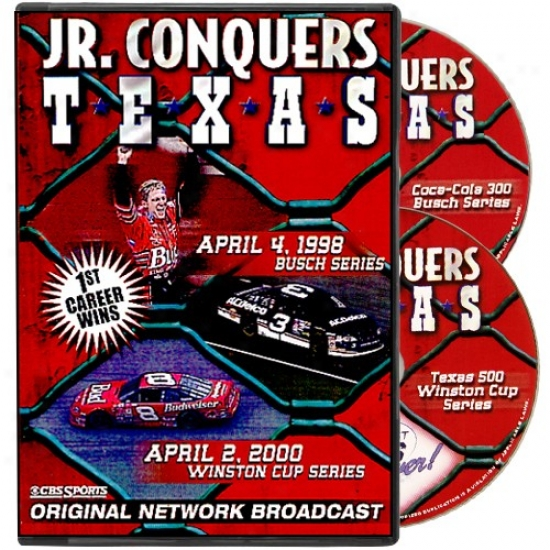 Dale Earnhardt Jr. 'jr. Conquers Texas' Original Network Broadcast 2-disc Dvd Collection