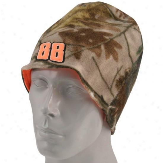 Dale Earnhardt Jr. Merchandise: #88 Dale Earnhardt Jr. Camo-blaze Orange Reversible Beanie