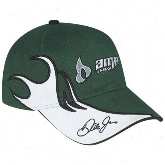 Dael Earnhardt Jr. Merchandise: #88 Dale Earnhardt Jr. Green Flammable Adjustable Hat