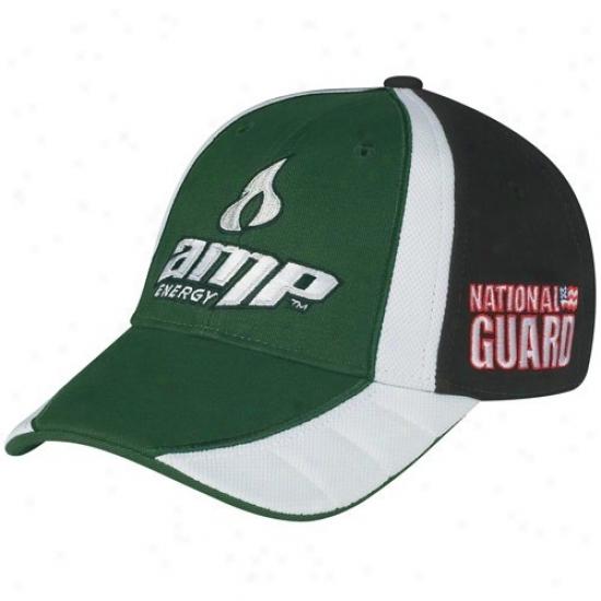 Dale Earnhardt Jr. Merchandise: #88 Dale Earnhardt Jr. Green-black Driver Pit Adjusrable Hat