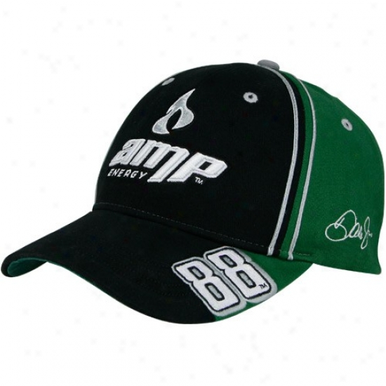 Dale Earnhardt Jr. Merchandise: #88 Dale Earnhardt Jr. Green Stretch Adjustable Hat