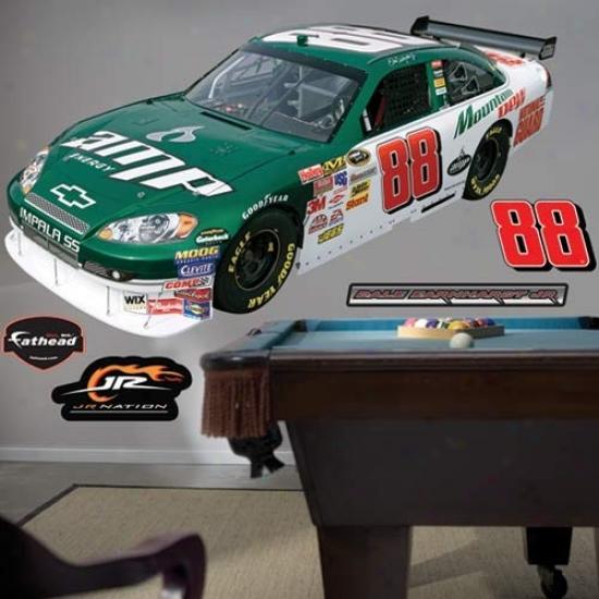 Dale Earnhardt Jr. Rac3 Car Fathead Wall Sticker