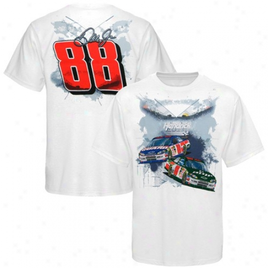 Dale Earnhardt Jr. Shirt : #88 Dale Earnhardt Jr. Youth White Hendrick Motorsports Shirt