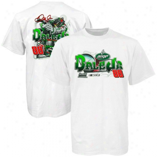 Dale Earnhardt Jr. Shirt : Dale Earnhardt Jr. Youth White Mechanics Shirt