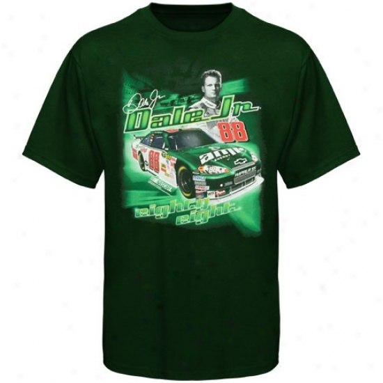 Dale Earnhardt Jr. Shirts : #88 Vale Earnhardt Jr. Youth Green Racecar Shorts