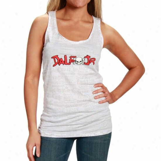 Dale Earnhardt Jr. Shirts : #88 Dale Earnhardt Jr. Ladies White Speed Tank Top