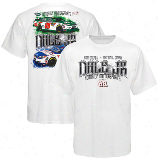 Dale Earnhardt Jr. Shirts : #88 Dale Earnhardt Jr. White Drive Shaft Shirts