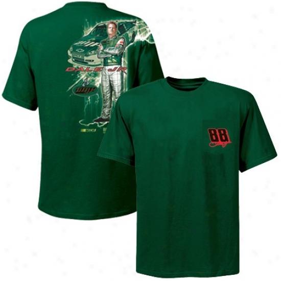 Dale Earnhardt Jr. Shirts : #88 Dale Earnhatdt Jr. Green Fast Wood Shirts
